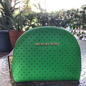 Michael Kors Green Clutch or Cosmetics Case